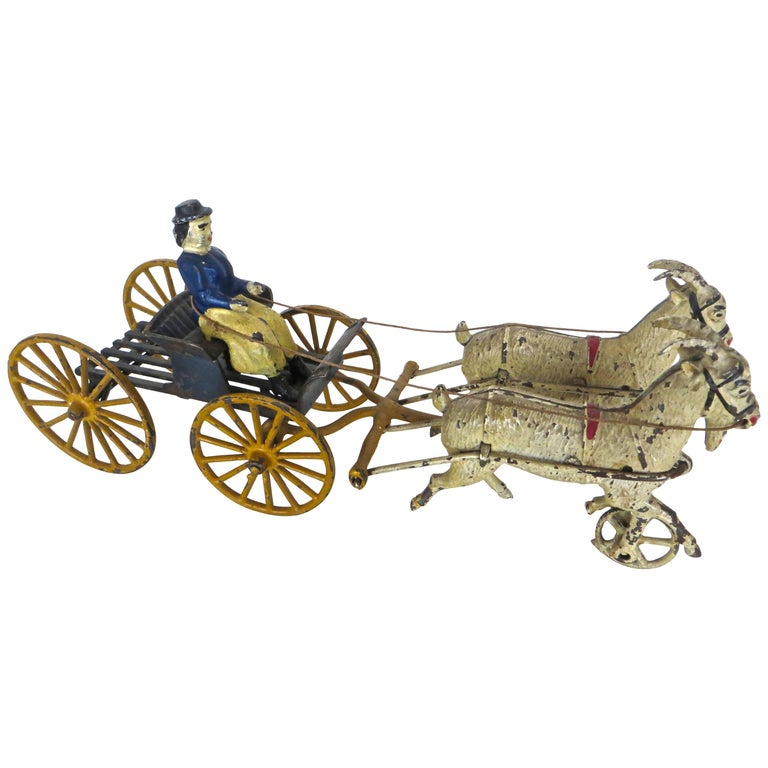 Goat Drawn Lady Driver American Toy by Harris Toy Company, circa 1903