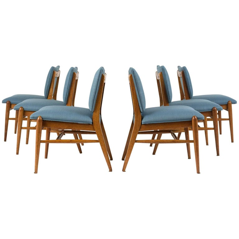 Set of Six Dining Room Chairs by John Keal for Brown Saltman