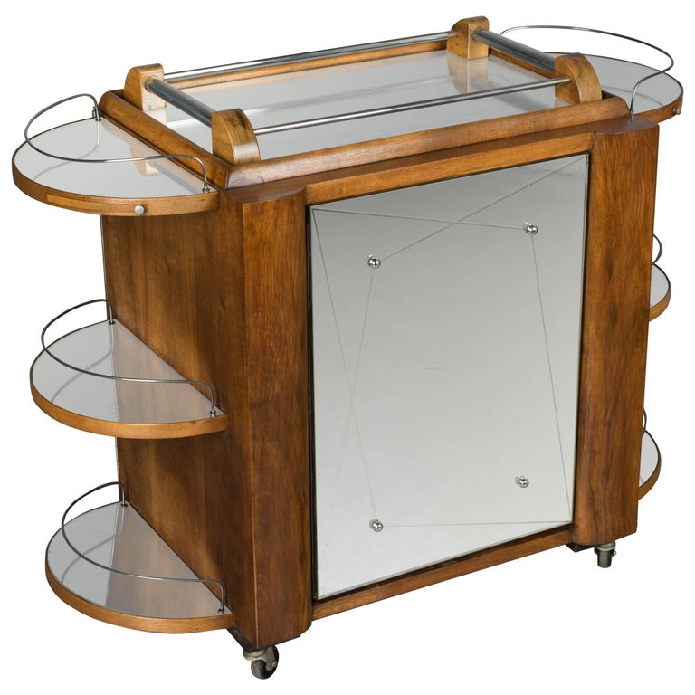 French Art Deco Style Cocktail Trolley