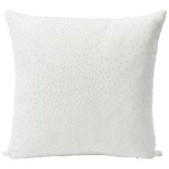 "Schumacher Northern Lights Bead-Embellished White Two-Sided 18"" Linen Pillow"