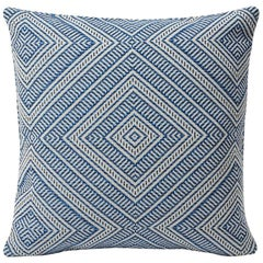 "Schumacher Tortola Diamond Woven Indoor/Outdoor Two-Sided 18"" Pillow"