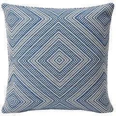 "Schumacher Tortola Diamond Woven Indoor/Outdoor Two-Sided 18"" Pillow"