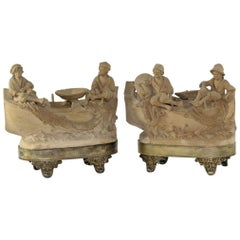 Pair of Fine 19th Century Terracotta Sculptures by Prominent Sicilian Artist
