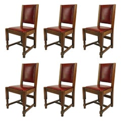 Set of 6 American Mission Oak Side Chairs