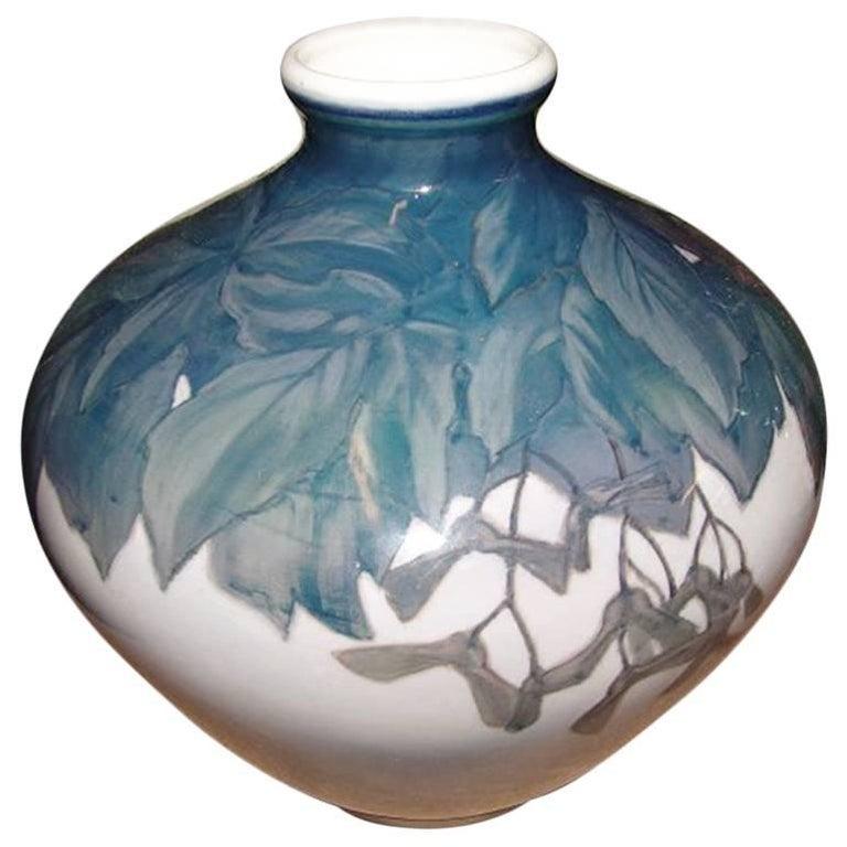 Royal Copenhagen Art Nouveau Unique Vase For Sale