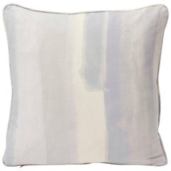 "Schumacher Miles Redd Watercolor Soft Lilac Two-Sided 18"" Linen Cotton Pillow"
