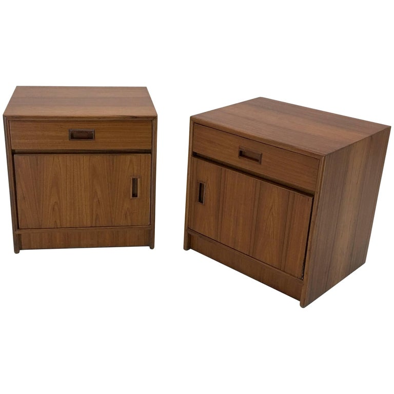 Custom Danish Teak Nightstands or End Tables