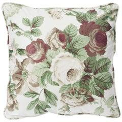 """Schumacher Vogue Living Nancy Grisaille Floral Glazed Cotton 18"""" Pillow"""