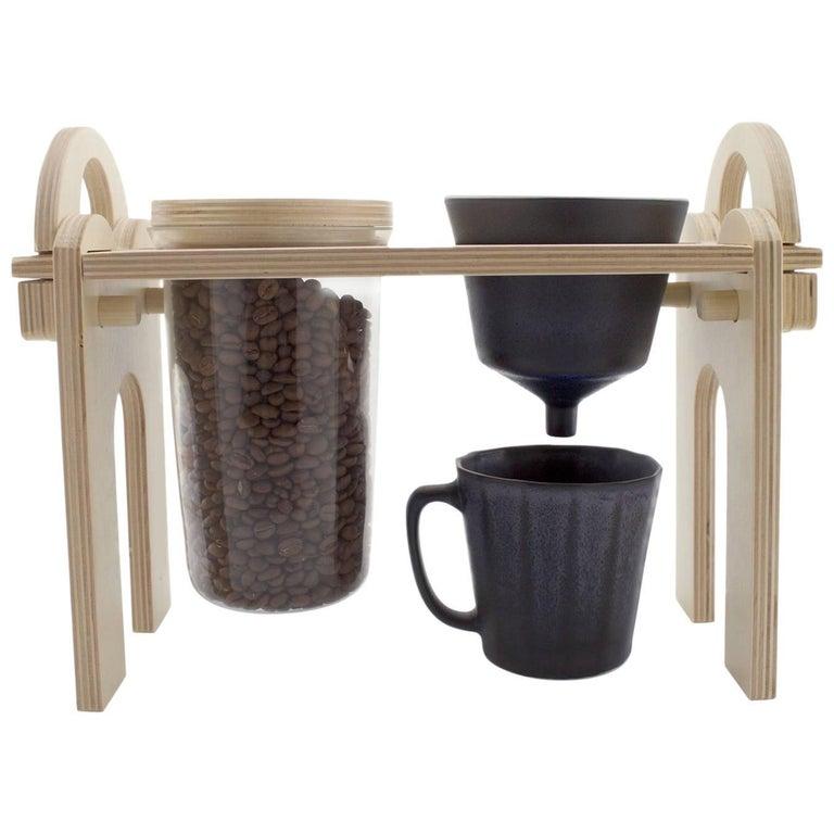 Savant Pour over Set, Matte Black Coffee Set, Modern Contemporary Porcelain For Sale