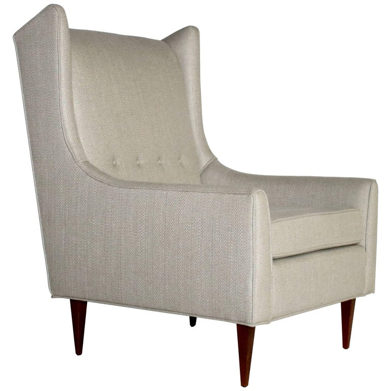 Mid-Century Modernist Wing Chair