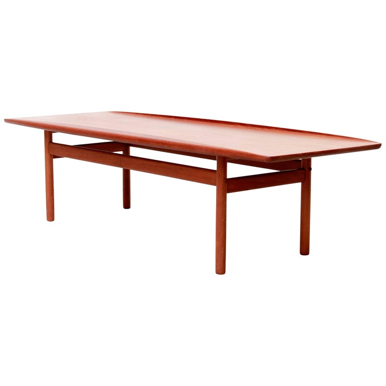 Danish Modern Teak Coffee Table by Grete Jalk for Poul Jeppesen, 1960s