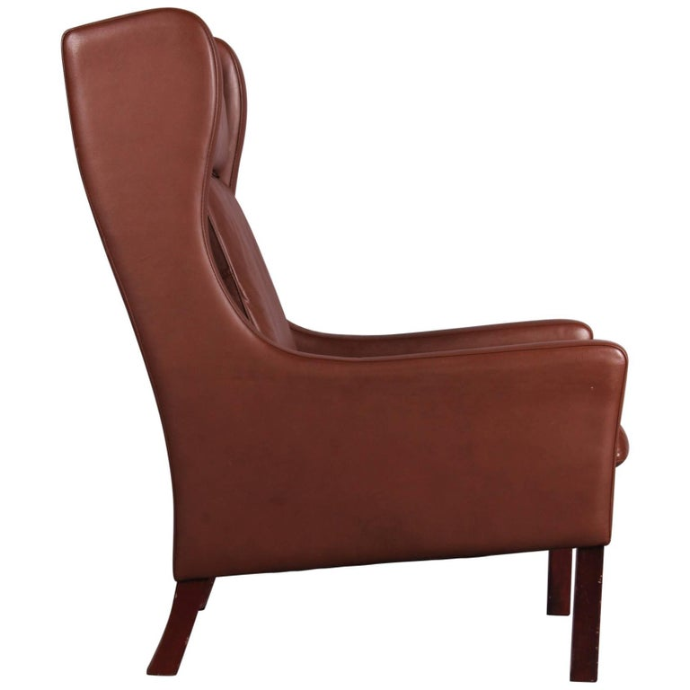 Børge Mogensen Style Leather Armchair