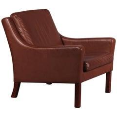 Borge Mogensen Style Leather Armchair