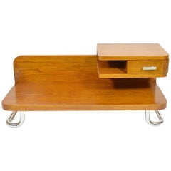 Functionalist Bedside Table from Kovona, 1940s Vintage