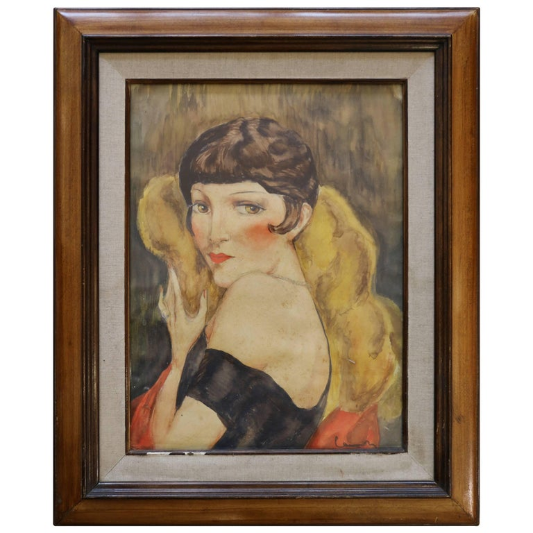 Portrait of Kiki de Montparnasse by Charles Camoin 'Attributed', France, 1920s For Sale