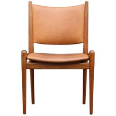 Hans Wegner Cognac Leather Chair