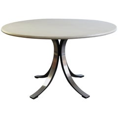"1960s Borsani and Gerli Italian Carrara Marble Dining Table ""T69"" for Tecno"