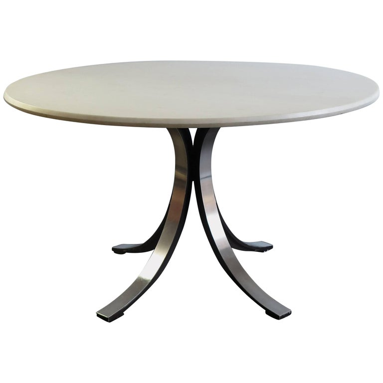 "1960s Borsani and Gerli Italian Carrara Marble Dining Table ""T69"" for Tecno"