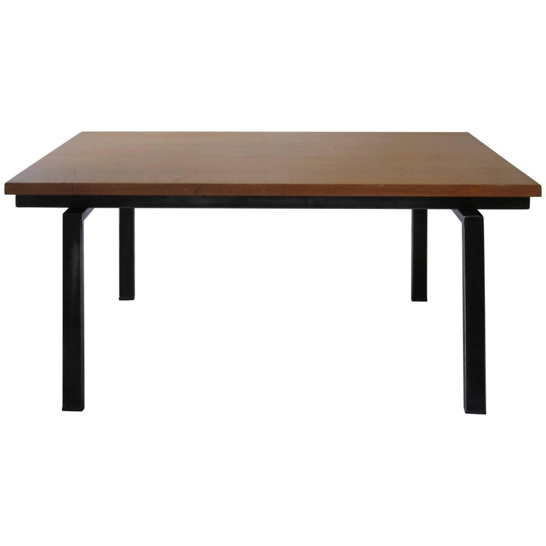 1950s Italian Midcentury Design Solid Wood Coffee Table by ISA