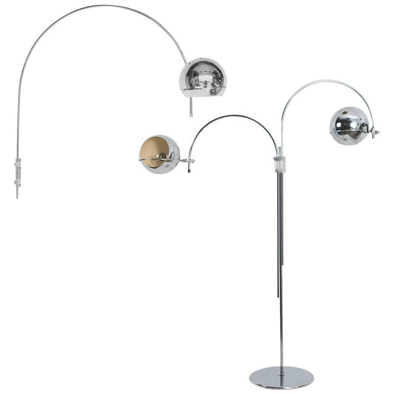Set of Dutch Chrome Light Fixtures from Gepo, Double Eye-Ball, 1960s