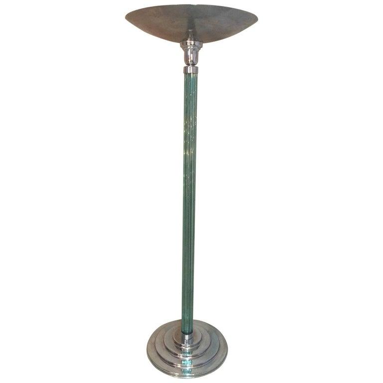 French Art Deco Floor Lamp, 1930s