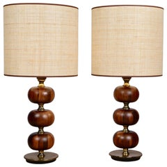 Henrik Blomquist, Table Lamps by Tranås Stilarmatur in Rosewood