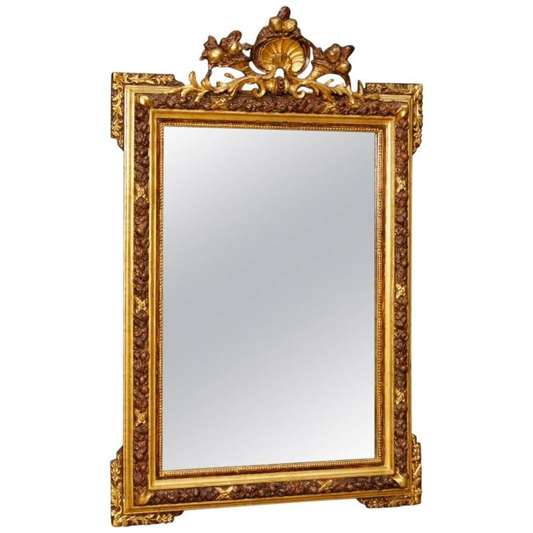 Italian Mirror in Giltwood and Plaster in Louis XVI Style from 20th Century