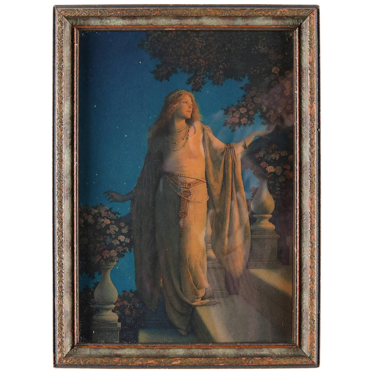 Art Deco Framed Print Of Enchantment After Original By Maxfield Parrish At 1stdibs