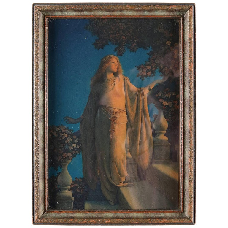 "Art Deco Framed Print of ""Enchantment"" after Original by Maxfield Parrish"