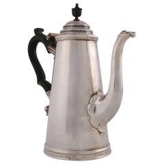 Antique English Sterling Silver Tea Pot by James Dixon & Sons, circa 1910