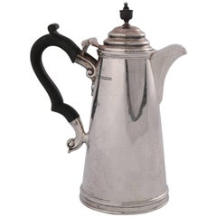 Antique English Sterling Silver Coffee Pot by James Dixon & Sons, circa 1909