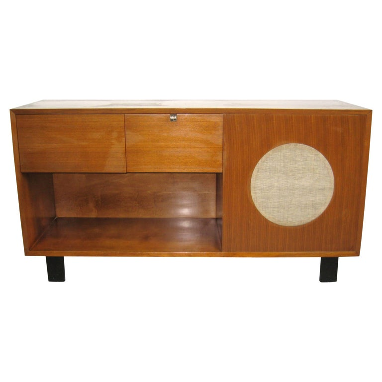 Midcentury George Nelson Stereo Cabinet for Herman Miller Primavera