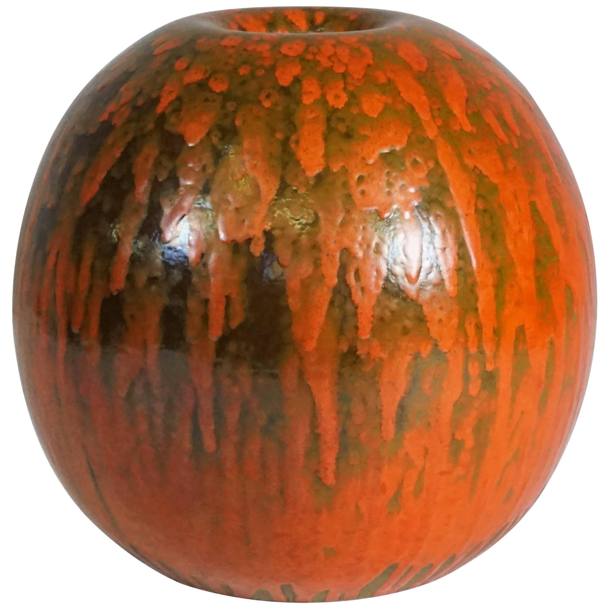 "Vase ""Pumpkin"" from Albisola, Italy, circa 1960"