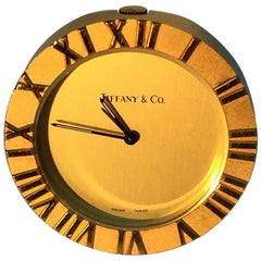 "Small Vintage Tiffany & Co. Desk Clock ""The Atlas"""