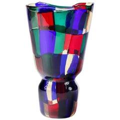 Fulvio Bianconi Venini Pezzato Vase