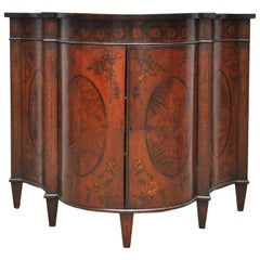 Serpentine Mahogany Inlaid Curved Cabinet