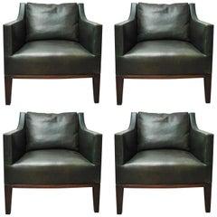 Set of 4 Dessin Fournir Lehigh Chair by Gerard
