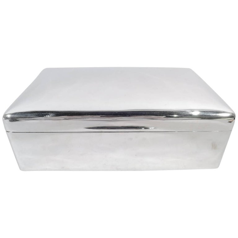 Large Antique English Sterling Silver Box