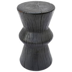 Andrianna Shamaris Triple Burnt Tamarind Wood Side Table