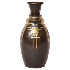Liberato Zola French Art Deco Copper Dinanderie Vase