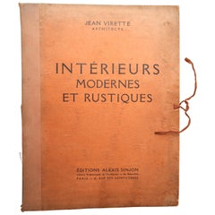 Interieurs Modernes and Rustiques by Jean Virette