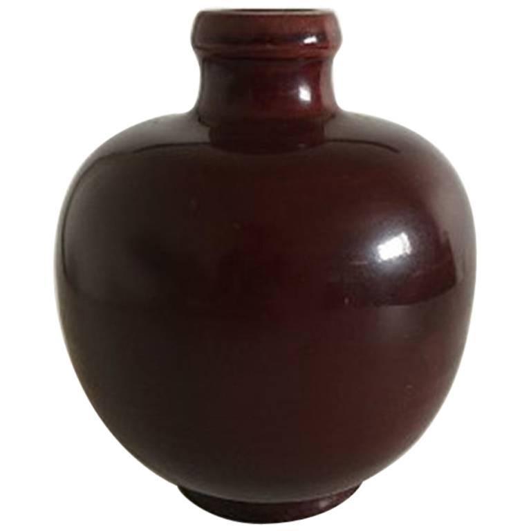 Royal Copenhagen Stoneware Vase in Oxblood Glaze Sang de Boeuf #97/43