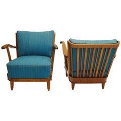 Pair of Svante Skogh Mahogany Lounge Chairs