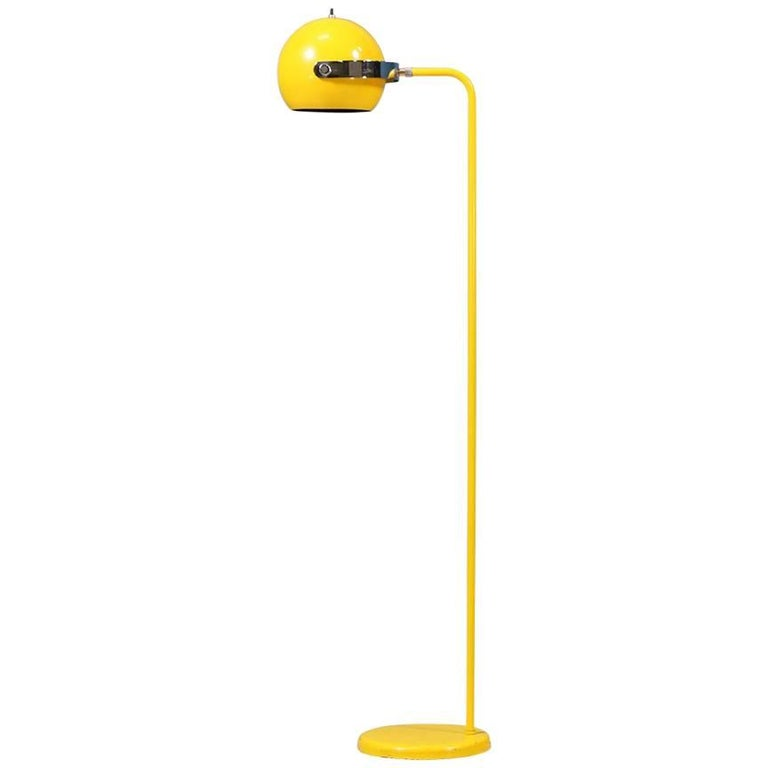 Robert Sonneman Yellow Enameled Floor Lamp