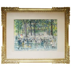"""Concert in Central Park"" a Watercolor by Carle Michel Boog"
