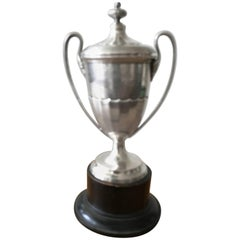 Edwardian Sterling Silver 1920s Trophy Presentation Cup
