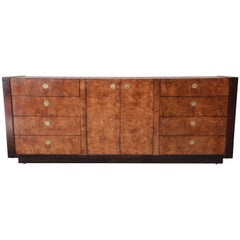 Hollywood Regency Burled Olivewood Credenza by Century Furniture