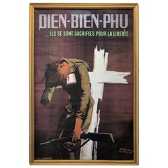 French Poster in Memory of Soldiers Fallen in Dien Bien Phù, Signed Paul Colin