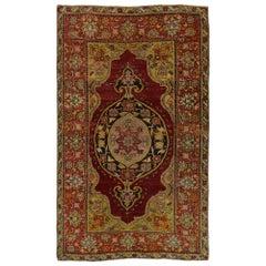 51723 Vintage Turkish Oushak Accent Rug, Entry or Foyer Rug