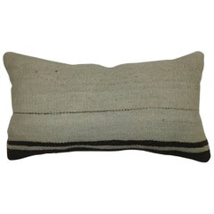 White Bolster Kilim Pillow